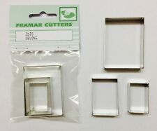 Cake Decorating Metal 262S Oblong by Framar Cutters