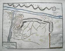 Festung Rheinfels Rhein St. Goar Burg Katz N. de Fer  Kupferstich  1694