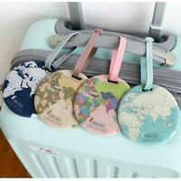 Baggage Holder Address Boarding ID World Map Suitcase Label Bag Tags