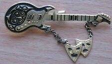 Russian Metal Pin badge Buttons Kid Child vtg Guitar Musical Instrument String