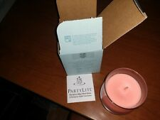 PartyLite BestBurn Coral Hibiscus Barrel Jar Candle New in box G11323