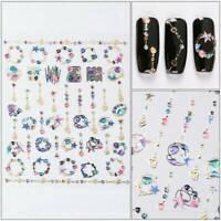 1 Sheet Nail Art Transfer Stickers 3D Various Decal Manicure DIY Xmas Decoration