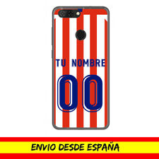 Funda Movil ZTE / Camiseta Futbol Compatible con Atletico Nombre Numero Dibujo