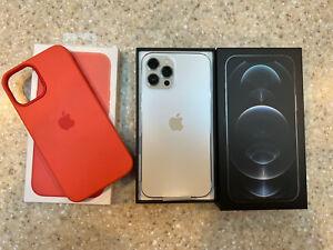 MINT Apple iPhone 12 Pro Max - 256GB - Silver (Unlocked) (MGCL3LLA) In BOX bonus