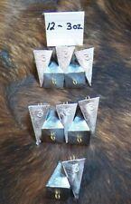 Lot of 12 Pyramid Fishing sinkers 12-3oz sinkers
