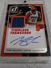 Karl Anthony Towns 2015-16 Donruss Timeless Treasures Relic Auto /75 Wolves