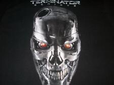 Terminator Genisys Logo Face Skull Back T-shirt Men's Large used