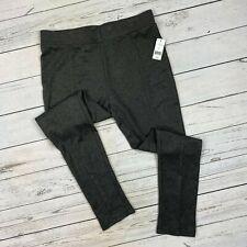 DP Ponte Tregging Legging Size Large Womens Pull On Knit Gray Skinny Pants