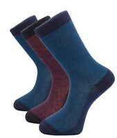 1SOCK2SOCK Mens Dress Socks Casual Cotton 3 Pack Blue Red Crew Socks Size 10 13