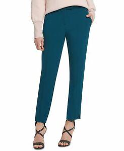 DKNY Women's Dress Pants Blue Size 14X28 Straight Foundation Stretch $79 #293