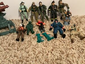 Mixed lot of Action Figures- Military Men/ Firemen/ Construction Worker & more