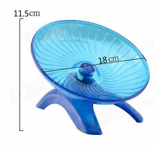 18cm Dia Flying Saucer Exercise Wheel Hamster Gerbil Cage Toy Spinner For Pet