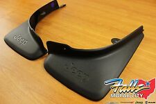 2014-2018 Jeep Cherokee Deluxe Molded Rear Splash Guards Mud Flaps Mopar OEM