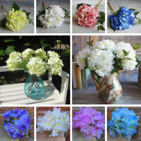 3x Hydrangea Bouquet Artificial Silk Fake Flower Home Decor Party Wedding Floral