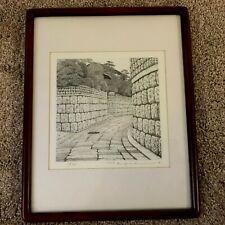 "Tanaka Ryohei (1933) ""Path of Stone"" Etching Print"