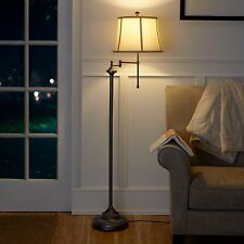 "59"" Swing Arm Floor Lamp CFL Bulb Included Study Room Hall Decor Light Vintage"