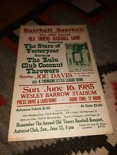 OLD TIMERS BASEBALL GAME New Orleans Black Pelicans Negro Leagues 1985 14x 22