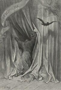 The Raven, illustration 1, 1832, GUSTAVE DORE Edgar Allan Poe Poster