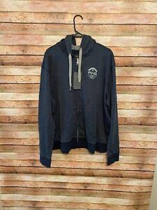 Ping Mens 60 Year Anniversary Golf Hoodie Sweatshirt Full Zip Navy 2XL XXL NEW