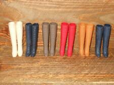 Lot of 6 Pair Barbie Vintage Squishy Lace-Up Boots Brown Red White Tan Blue x2