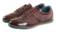 ECCO Women's Sneakers Shoes Size EU 39 US 8-8.5 Patent Leather Maroon