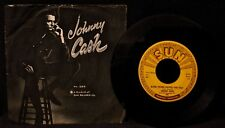 JOHNNY CASH-Guess Things Happen That Way-Picture Sleeve & 45-SUN RECORDS #295