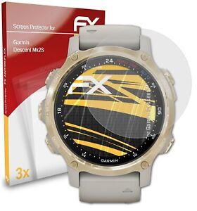 atFoliX 3x Screen Protection Film for Garmin Descent Mk2S matt&shockproof
