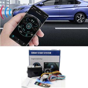 Car Engine Start Locking Push Button Phone Remote Control Alarm Security System