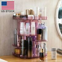 Jewelry Case Makeup Cosmetic Storage Box Holder Organizer 360 Degree Rotating