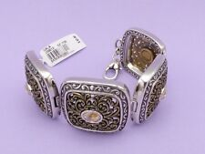 BRIGHTON Silver Gold Crystal GALA Link Bracelet NEW $82