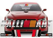RALLIART GRAPHIC KIT WINDSHIELD DECAL SIDE STICKERS MITSUBISHI ECLIPSE LANCER