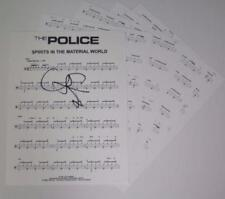 "Stewart Copeland THE POLICE Signed ""Spirits In The Material World"" Drum Chart"