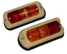2 Rückleuchte Blinkleuchte Blinker für Traktor Schlepper Spiegel o. Lichtscheibe