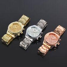 New Fashion Ladies Women Girl Unisex Stainless Steel Quartz Wrist Watch