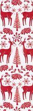 Reindeer decorative paper,  laminated bookmark