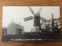 Vintage Real Photo Postcard YORK North Yorkshire The Windmill Acomb Road