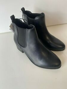 Ellie Microsuede Womens Black Wedge Ankle Booties Size US 6.5