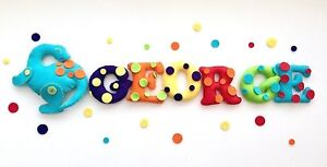 Dinosaur Spotty Rainbow Name Banner, Lots Of Colours, For Boys and Girls