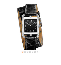 Hermes 45%OFF Diamond VCA ONYX Cape Cod Watch GM Double Tour Kelly Bracelet