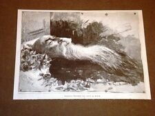 Agostino Depretis sul suo letto di morte nel 1887