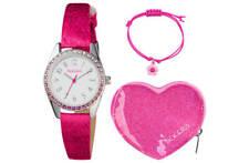 Tikkers GIRLS Watch ATK1032 Bracelet &Heart Purse Pink Glitter NEW XMAS GIFT SET