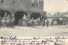 Fire Department Headquarters, Jackson, Michigan Firemen 1905 Vintage Postcard