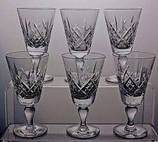 "ROYAL DOULTON CRYSTAL ""JULIA"" CUT SHERRY GLASSES SET OF 6 - MARKED - 4 1/2"""
