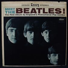 THE BEATLES-Meet The Beatles-Stereo Vinyl Album-CAPITOL #ST 2047-John Lennon