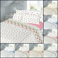Flannelette Duvet Cover Set Single Double King Super Size Bedding Sheet Sets New