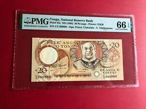 1995 Tonga 20 Pa'Anga PMG 66 EPQ Gem Hors-Circulation Haut Grade