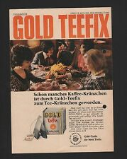 DÜSSELDORF HAMBURG, Werbung 1968, Teekanne GmbH Gold Teefix