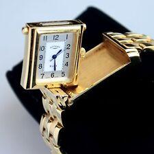 "Rotary Gold Tone Swiss Made Reversible Women's Wrist Watch Fits 6.75-7"" Wrist"