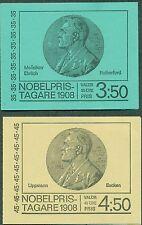 Sweden H215-16 (Scott 806a-7a) 35ore & 45ore Nobel Prize booklets, Vf
