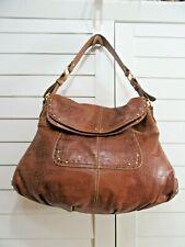 MAXX New York large Brown Croc embossed leather satchel Flap Closure Handbag